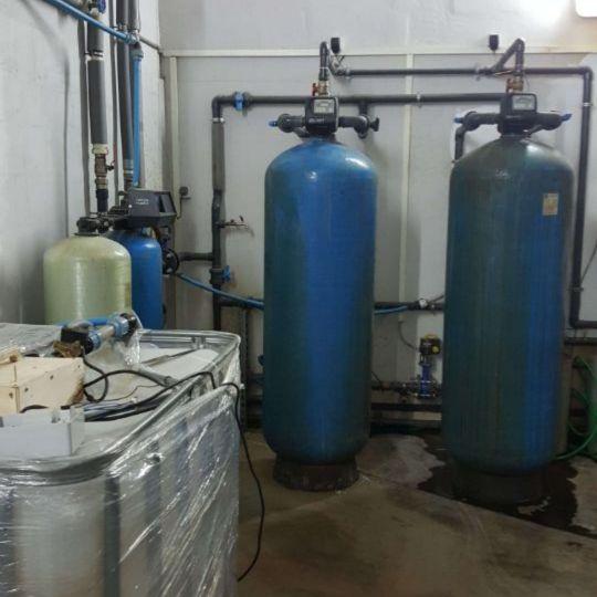 Установленная система водоподготовки для воды из скважины