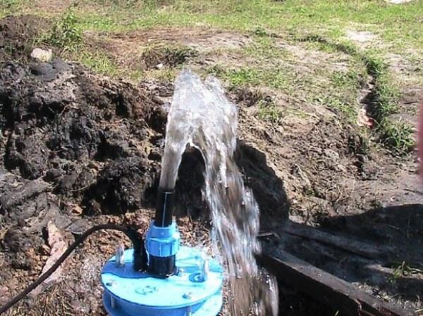 вода из скважины идет рывками